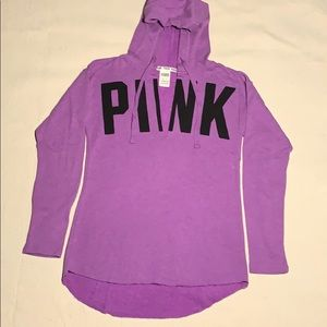 NWOT PINK Victoria's Secret Open Chest Hoodie